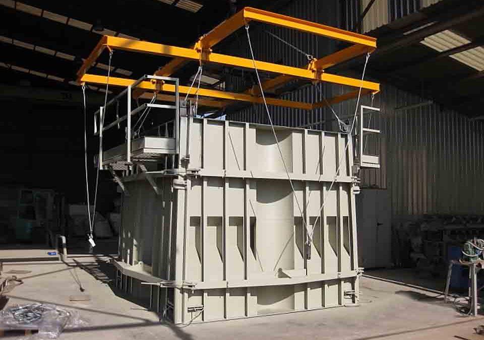 CAST FORMWORK FOR 60 T ANTIFER BLOCK