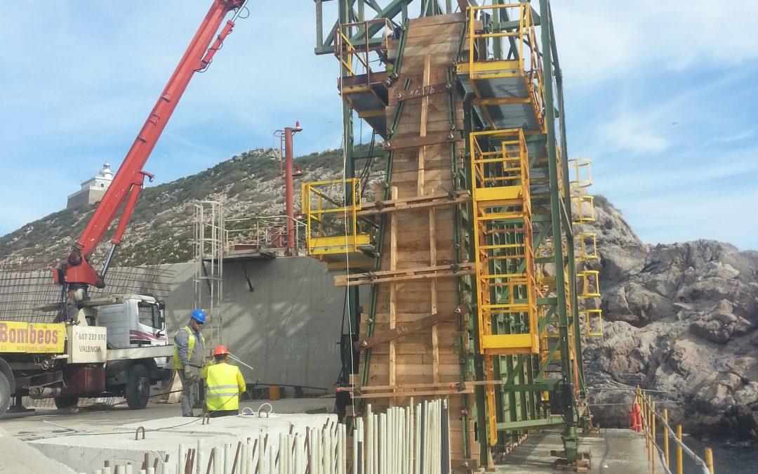 Démarrage du chantier sur le dock Escombreras