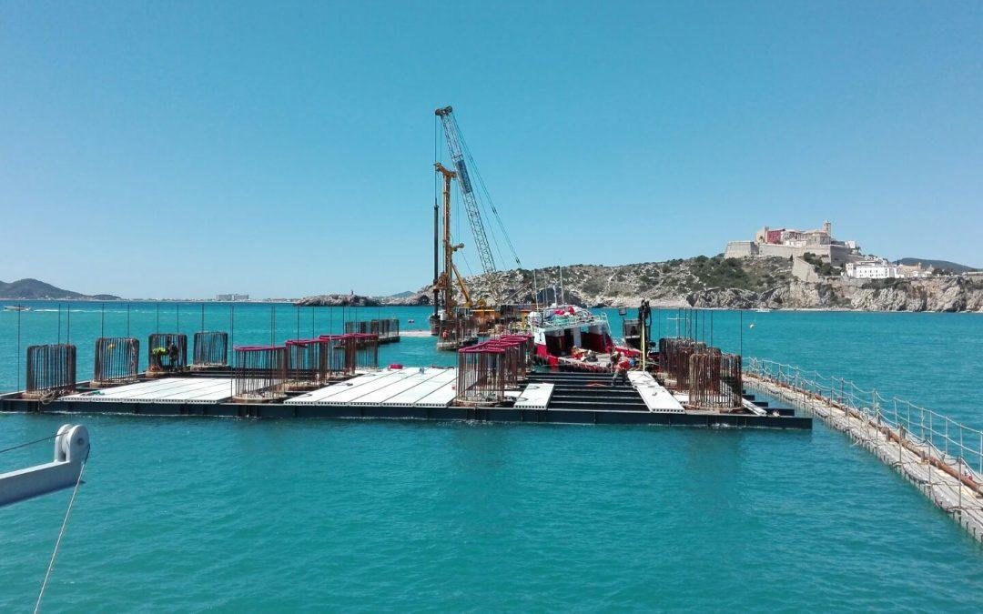 Encofrados para obra marítima `Duques de Alba´para la Marina de Botafoc