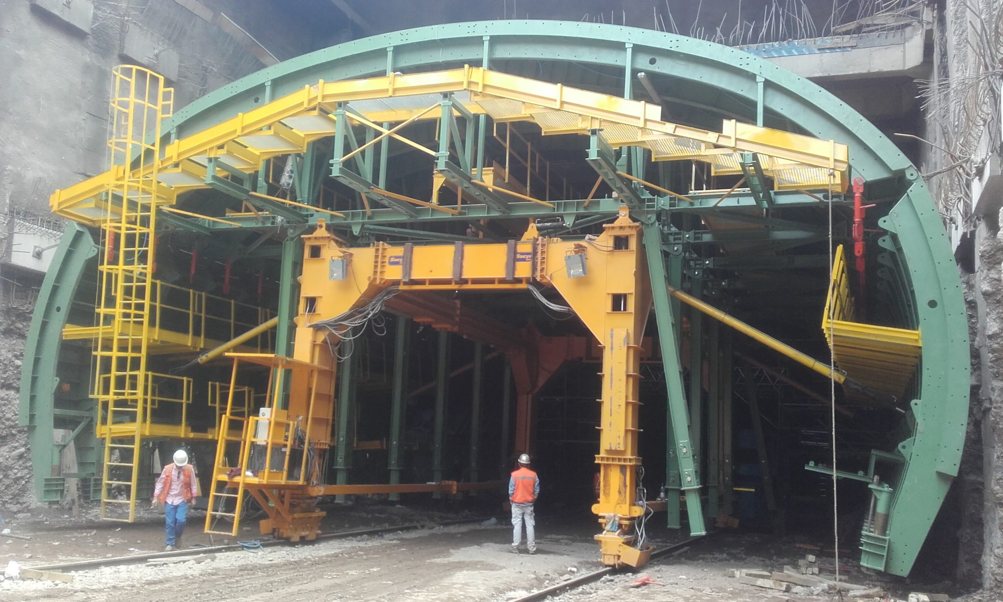 Formwork for linning of the Kennedy tunnel by RUBRICA TUNNELS