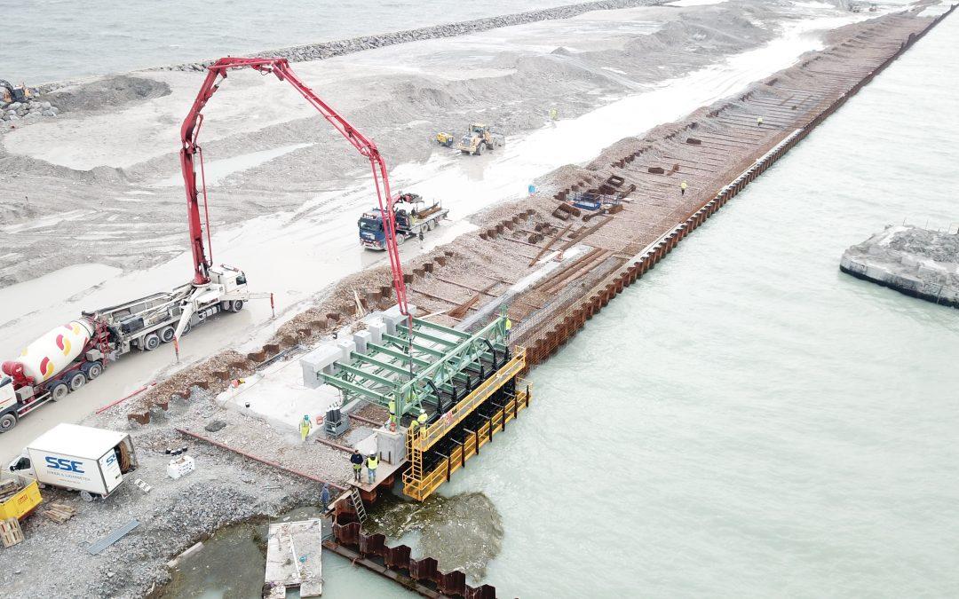 Capping beam formwork equipment for Trelleborg Port by RÚBRICA MARITIME