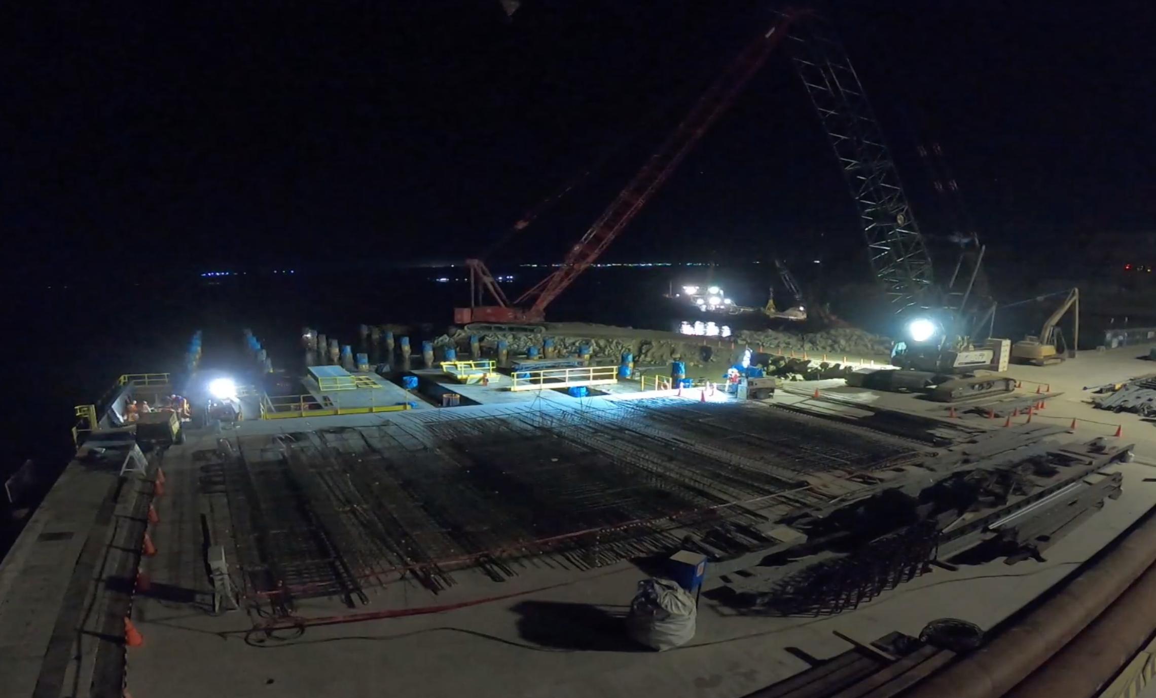 Self-launching falsework Paita port expansion by RÚBRICA MARITIME